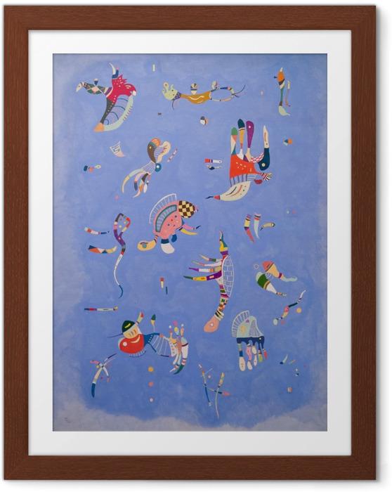 Ingelijste Poster Wassily Kandinsky - Hemelsblauw - Reproducties