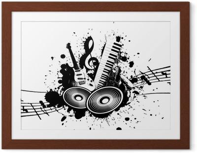 Poster en cadre Music grunge - Jazz