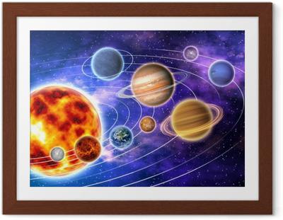 Póster Enmarcado Solar system