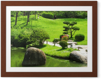 Gerahmtes Poster Japanese Garden