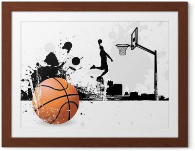 Poster en cadre Basketteur