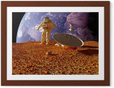 Póster com Moldura The astronaut