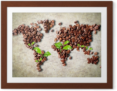 Poster en cadre Café à travers le monde