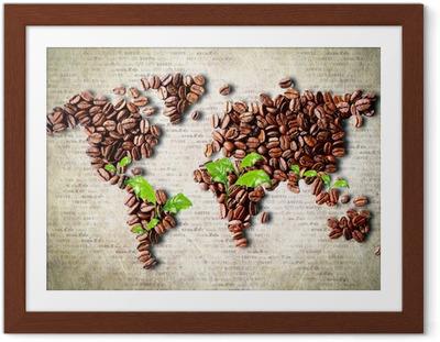 Póster Enmarcado Café en todo el mundo