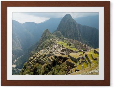Poster en cadre Machu Picchu dans la région de Cusco au Pérou