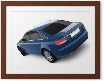 Blue Business-Class Car Framed Poster