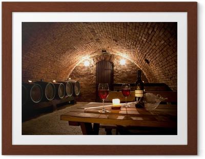 Poster en cadre Wine cellar - Thèmes