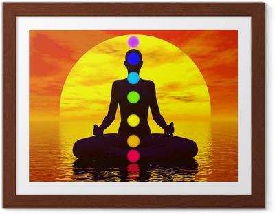 Poster en cadre Chakras au coucher du soleil - 3D