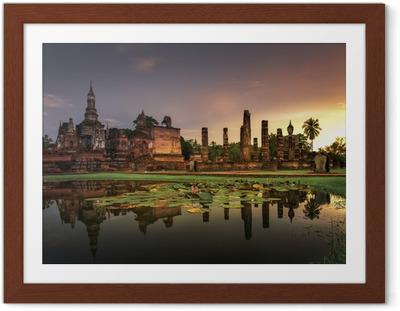 Poster en cadre Parc historique de Sukhothai - Asie