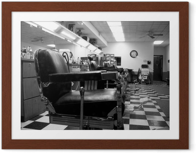Póster com Moldura Barber shop