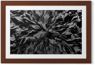 Innrammet plakat 3d abstrakt bakgrunn.
