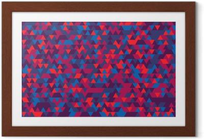 Gerahmtes Poster Zusammenfassung Hintergrund der Dreiecke. Die Abstufung von Violet. Violetten Reflexen.