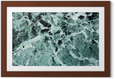 Gerahmtes Poster Grüner Marmor