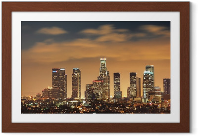 Downtown Los Angeles skyline Indrammet plakat