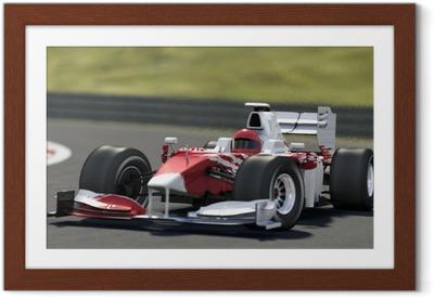Gerahmtes Poster Formel Eins-Rennwagen