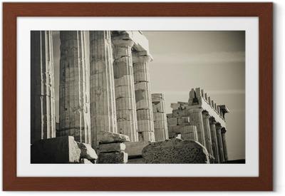 Gerahmtes Poster Griechische Säulen