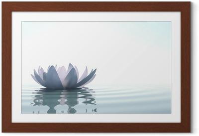 Plakát v rámu Zen květina Loto ve vodě