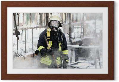 Poster en cadre Pompier - Métiers