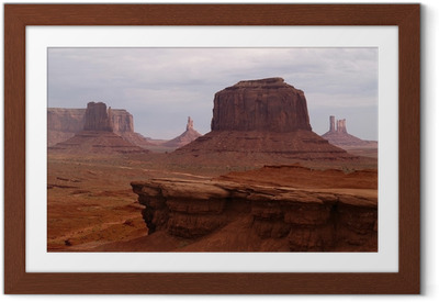 Poster en cadre Monument valley