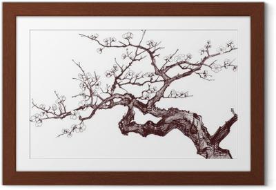 Póster Enmarcado Cherry tree