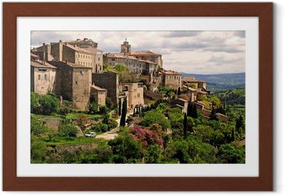 Gerahmtes Poster Gordes, Luberon Provence