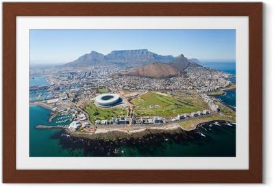 Ingelijste Poster Algemene luchtfoto van Kaapstad, Zuid-Afrika