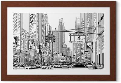 Poster en cadre Rue à New York