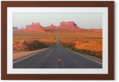 Poster en cadre Route de Monument Valley