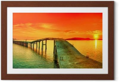 Plakat w ramie Sunset Panorama