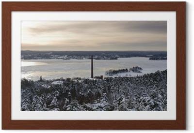 Tampere, suomalainen panoraama Kehystetty juliste