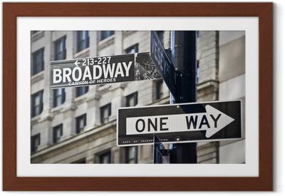 Gerahmtes Poster Ganneau Broadway à New-York