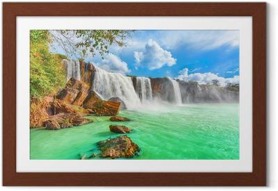 Ingelijste Poster Dry Nur waterfall