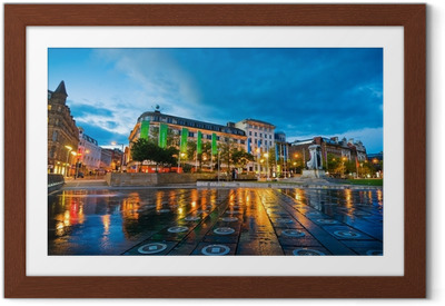 piccadilly square manchester Framed Poster