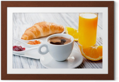 Poster en cadre Petit déjeuner continental