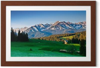 Plakát v rámu Polský Tatra hory panorama v dopoledních hodinách