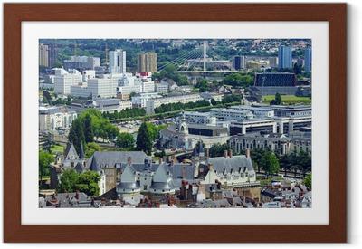 Poster en cadre Vue aérienne de Nantes