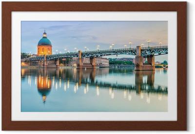 Ingelijste Poster Toulouse - Ziekenhuis La Grave en Pont Saint-Pierre