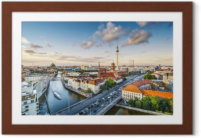 Póster com Moldura Berlin, Germany Afternoon Cityscape
