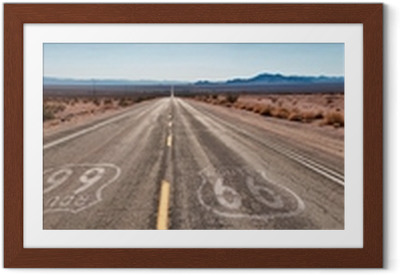 Route 66 Panorama Indrammet plakat