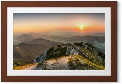 Poster en cadre Coucher de soleil paysage