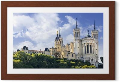 Poster en cadre Basilique Notre-Dame de Fourvière, Lyon, France