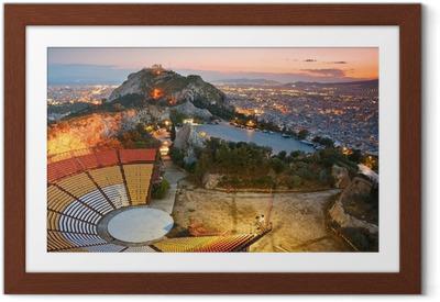 Gerahmtes Poster Athen bei Sonnenuntergang von Likabetus Hill.