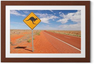 Innrammet plakat Australske endeløse veier