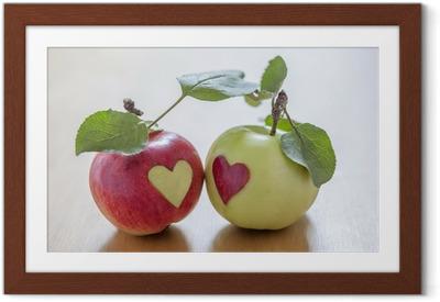 Poster en cadre Amour d'automne - Fruits