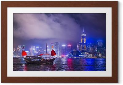 Gerahmtes Poster Hong Kong China