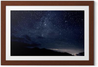 Plakat w ramie Gwiazdy niebo