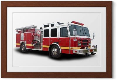 Poster en cadre Camion pompier
