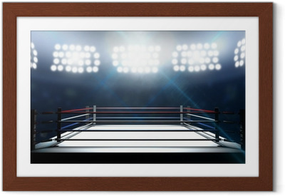 Boxing Ring In Arena Framed Poster
