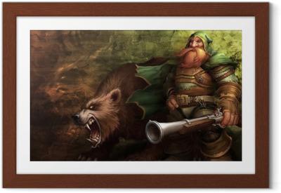 Póster com Moldura World of Warcraft