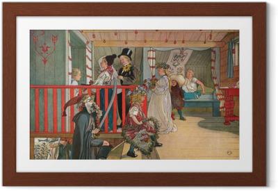 Plakat w ramie Carl Larsson - Imieniny w szopie